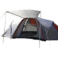 Besonders hochwertiges doppelwandiges Familienzelt (1500 mm Wassersäule) für 6 Personen mit großem Vordach. Durch den patentierten Schnellaufbau-Mechanismus ist dieses Zelt in kürzester Zeit einsatzbereit. Das Zelt ist nach dem Regenschirmprinzip auf...