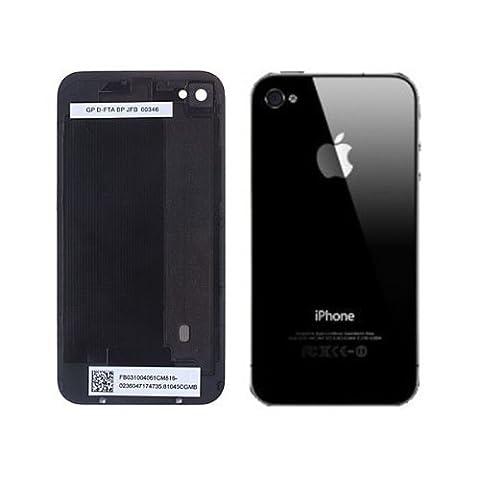 Remplacement OEM Générique en Verre de Réparation de Couverture Arrière Coque pour iPhone 4 Noir / Chrome Caméra Anneau Pentalobe Tournevis Fourni