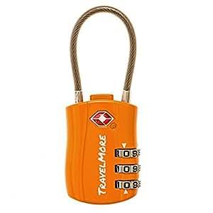 Reiseschloss TSA Approved – Gepäckschloss Kofferschloss Zahlenschloss Vorhängeschloss für Travel (1, 2 & 4 Pack) (1 Schloss - Orange)