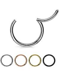 ManoaShark Segment Piercing Ring 316L Chirurgenstahl Titan