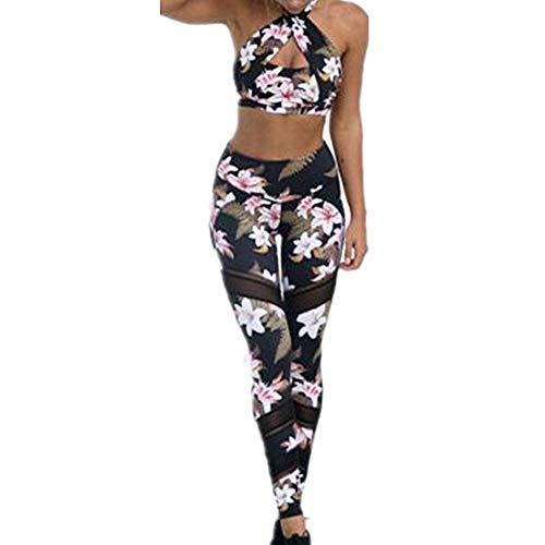 DOTBUY Damen Sportswear Set, Trainingsanzug Komfort Sport BH Jogginghose Sport Leggings Yoga Hose Trainingshose Sport Bustier ohne Bügel Yoga Fitness Training (M, Sportbekleidung A) - Nike Outfit