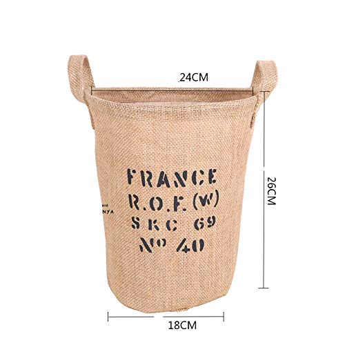 Laundry Hamper Clothes Storage Baskets Home Clothes Barrel Bags Kids Organizer Jute Storage Laundry Basket H Small -