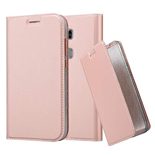 Cadorabo Hülle für Huawei G7 Plus / G8 / GX8 - Hülle in ROSÉ Gold - Handyhülle mit Standfunktion und Kartenfach im Metallic Look - Case Cover Schutzhülle Etui Tasche Book Klapp Style