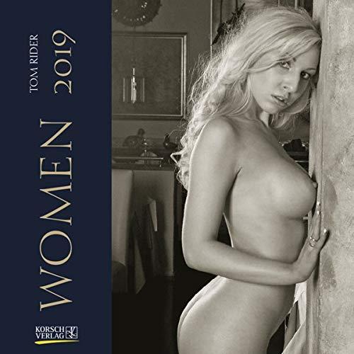Women (BK) 225919 2019: Broschürenkalender mit Ferienterminen. Erotik-Kalender in schwarz weiß. 30 x 30 cm