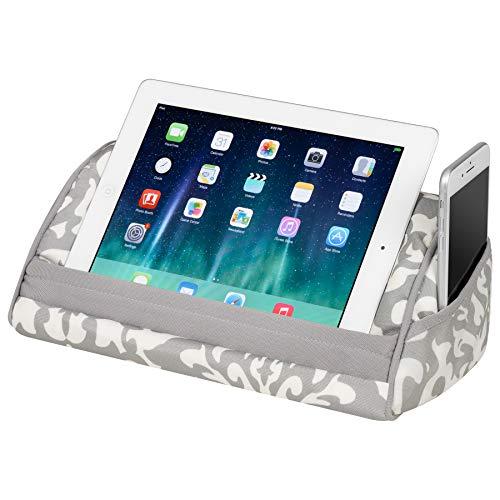 Preisvergleich Produktbild LapGear 35512 Designer Tablet Kissen Aqua Spalier Gray Damask