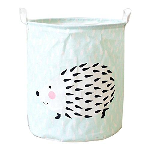 JEELINBORE Plegable Cestos para la colada Cajas de almacenaje Impermeable Cestas de Tela para Guardar Organizadoras Juguetes Ropa Cesta para lavandería (Erizo, 35x45CM)