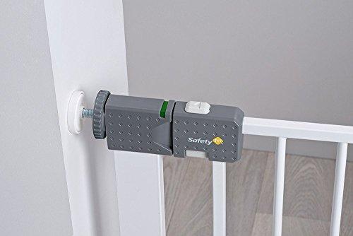 Safety 1st Quick Close ST Treppenschutzgitter, extra sicheres Metall-Türschutzgitter zum Klemmen, weiß, 73-80 cm, Möglichkeit der Verlängerung bis zu 136 cm verlängerbar (ab ca. 6-24 Monate) - 3