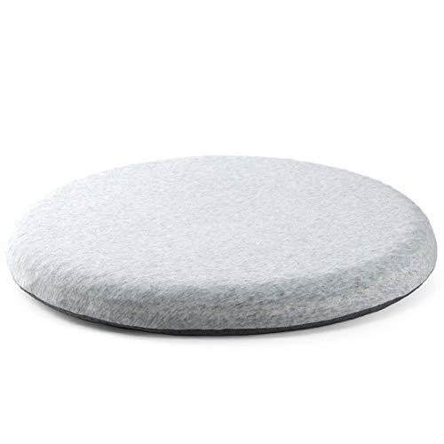 en,Memory-Schaum-Sitzkissen,rutschfeste Sommer Runde Baumwolle Office Essen Gesäß Kissen Bodenmatratze-Grau 42x42cm(17x17inch) ()