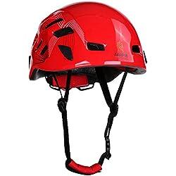 Al Aire Libre Del Alpinismo Escalada Casco De Seguridad Del Engranaje Protector De Rapel Roja