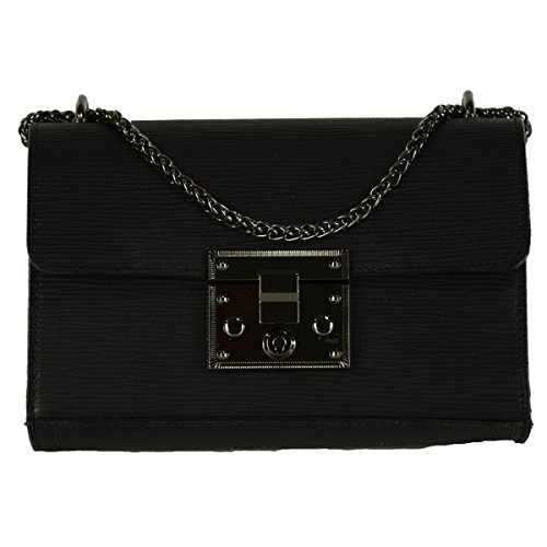 Tracolla Donna In Vera Pelle Colore Nero - Pelletteria Toscana Made In Italy - Borsa Donna