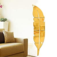 Feather three - dimensional mirror wall stickers