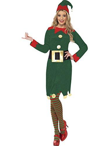 hnachten Kostüm Kostüm Weiblich Elfe Kostüm Komplettes Outfit - Multi, Large (Weiblich Weihnachten Elfen)
