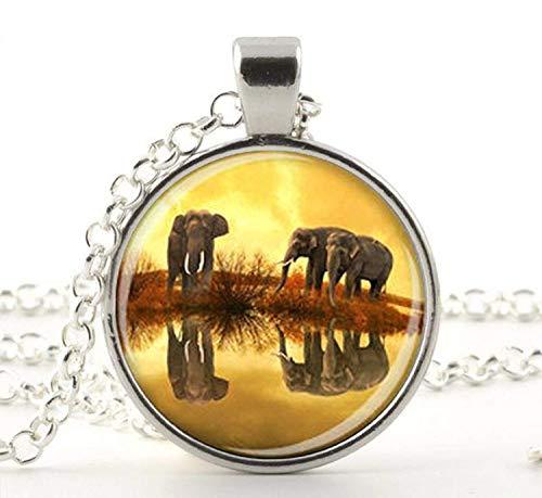 Collar de elefante para los amantes de los elefantes, regalo de elefante,...