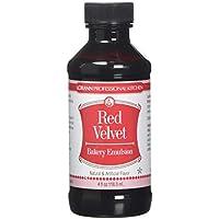 Lorann Oils Sabor Natural y Artificial Bakery Emulsions 118 ML, Tarta de Terciopelo Rojo