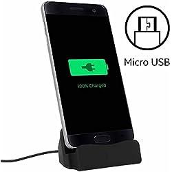 World Smartphones Station d'accueil Micro USB pour HTC 7 Mozart Noir