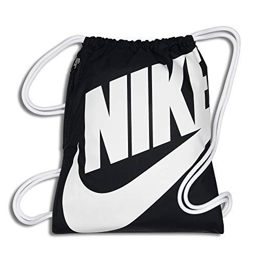 Nike Heritage Turnbeutel, Grau/Schwarz