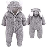Mxssi New Infant Boys Clothing Moda Mameluco para bebé Homewear recién Nacido Abrigos Calientes Soft Espesar