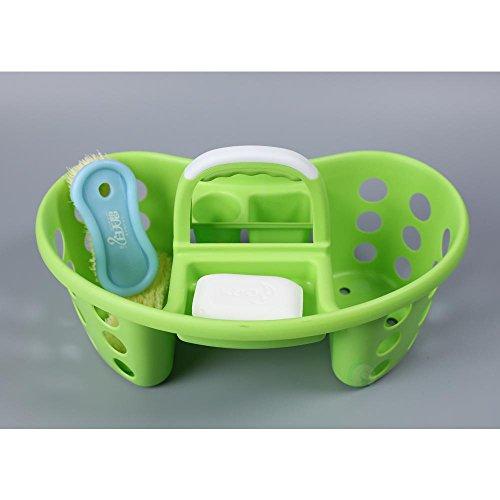 Tragbar Kunststoff Werkzeug und Reinigung Caddy, Grün