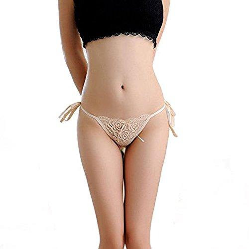 Meiye Frauen Krawatte Seite Bowknot Bänder Sexy Spitze Thongs Höschen Einstellbare G-String Unterwäsche