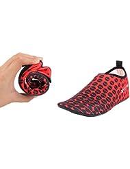 someamy Unsex Wetsuits Prima neopreno calcetines de agua aleta 3mm Ideal para deportes de agua, Snorkeling, buceo, natación, y Surf para, Dot Red