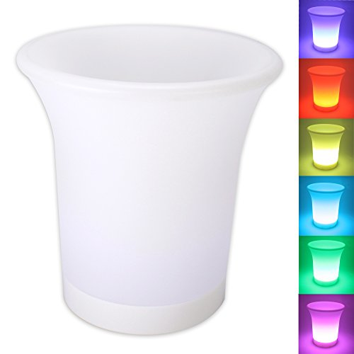 LED Flaschenkühler Sektkühler Weinkühler Champagnerkühler Sektkübel Eiskübel mit Farbwechsler...