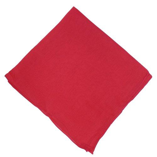 IB Halstuch 50x50cm Baumwolle 1A Qualität Einfarbig Bedruckbar Bestickbar Azofrei Uni Tuch Kopftuch Schultertuch Accessoire (10x, rot)