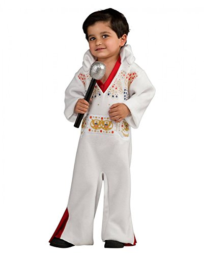(Horror-Shop King of Rock'n'Roll Elvis Presley Kleinkinder-Kostüm One Size)