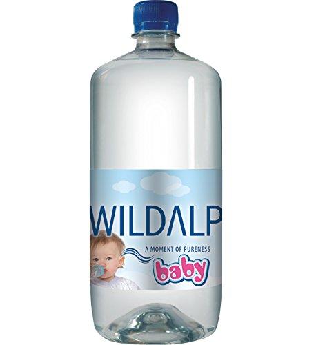 Babywasser WILDALP natürliches Quellwasser natriumarm, streng kontrolliert, pur oder zur Nahrungszubereitung ohne Abkochen (12 x 1 Liter)