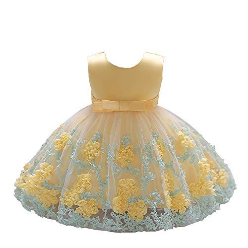 (LZH Baby Mädchen Kleider Formale Taufe Prinzessin Hochzeit Geburtstag Kleid)