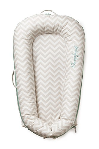 Preisvergleich Produktbild Enfant Terrible Design AB 150045654 Sleepyhead Deluxe Pod - Babybett/Reisebett, Silver Lining, mehrfarbig
