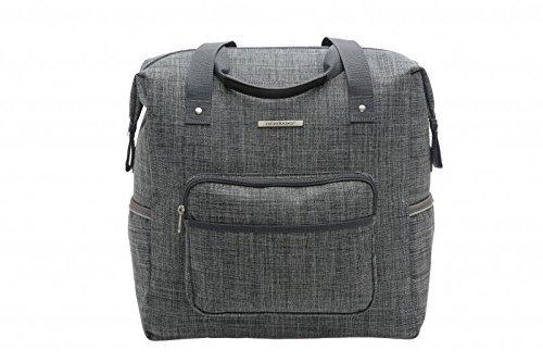 fahrrad einkaufstasche Unbekannt New Looxs Avero Camella Gepäckträgertasche/Einkaufstasche, Grey, 36 x 36 x 19 cm