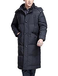 SUNROLAN Herren Mantel Wintermantel Daunenmantel Steppmantel mit Kapuze  Daunenjacke Lang c50dd5ca32