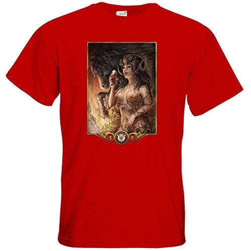 getshirts - Das Schwarze Auge - T-Shirt - Götter - Rahja Red