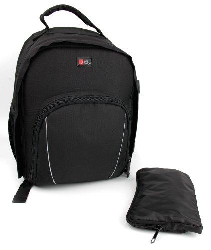 DURAGADGET Rucksack, wasserabweisend, mit anpassbarem Innenbereich und Regenschutz, kompatibel mit UMI Box 3 Virtual Reality Headset, Schwarz