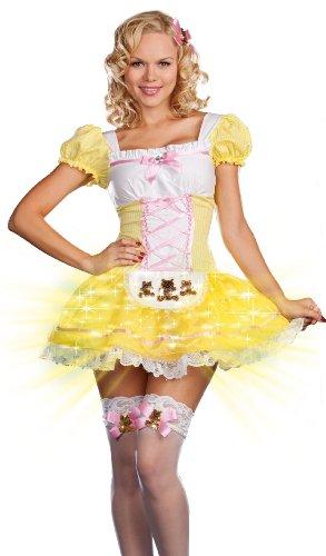 Dreamgirl Ohrenstöpsel, Glowing Goldlöckchen Gingham-Kostüm Kostüm
