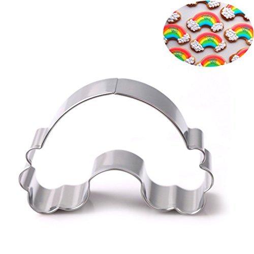 Webest Edelstahl Keks Ausstecher Kuchen Plätzchen Ausstecherform Regenbogen