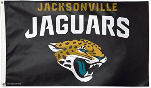 Flagge Jaguar (Flagge NFL Jacksonville Jaguars - 90 x 150 cm, + gratis Aufkleber, Flaggenfritze®)