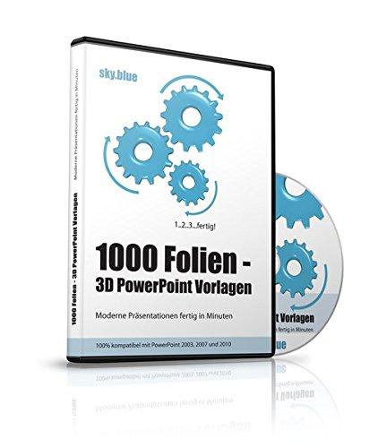 1000 Folien - 3D PowerPoint Vorlagen - Farbe: sky.blue (2016): Moderne Präsentationen für  Business, Kommunikation, Marketing, Vertrieb, Verkauf, ... - für Microsoft PowerPoint und Apple Keynote par Samuel Cremer