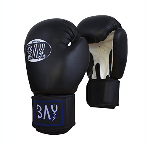 "BAY® ""Future"" Boxhandschuhe schwarz/weiß, 12 Unzen, Box-Handschuhe, Boxhandschuh Glover, Leder - PU, UZ OZ, Damen Herren"