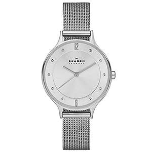 Skagen SKW2149 - Reloj para mujeres, correa de acero inoxidable color plateado de Skagen