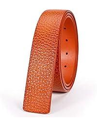 Availcx Catelles cuero genuino sin hebillas cinturones para hombre marca de  alta calidad correa de diseñador 8c1c7fb8e9df
