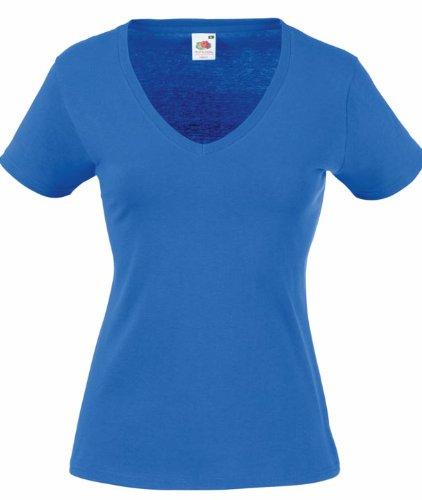 Lady-Fit Valueweight V-Neck T-Shirt von Fruit of the Loom Royalblau L