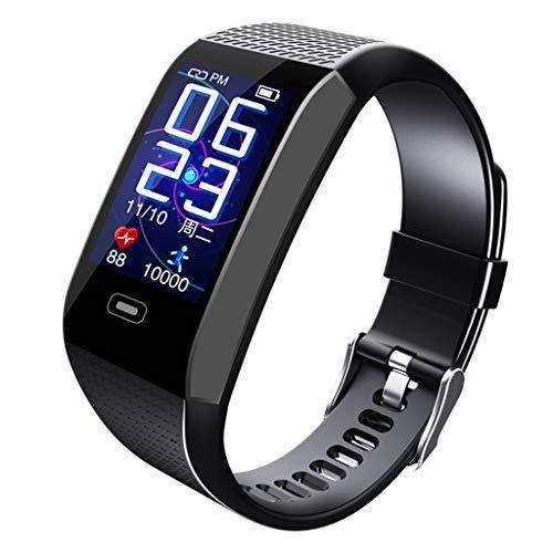 Benbzh Smartwatch Unisex Orologio Intelligente Braccialetto Fitness Activity Tracker Sportivo Cardiofrequenzimetro da Polso Contapassi Calorie Cronometro Display per Android e iOS (Nero)