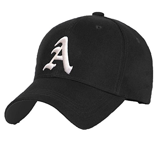 Cotton Baseball Mütze Cap Caps Gothic 3D A-Z BAD SWAG schwarz Snapback with Adjustable Strap Snap Back (A)