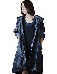 Dopobo mode élégant imperméable à capuche Veste de pluie Vêtements de pluie Fille Femmes Homme