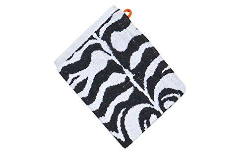 Baidani Waschhandschuh Zebra 15 x 20cm-4 Stück, Baumwolle, Mehrfarbig, 20 x 15 cm, 4-Einheiten (Waschlappen Safari)