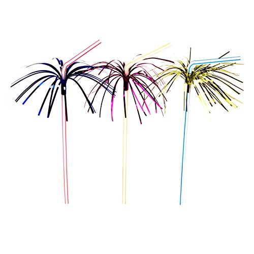 Drinking Straw, Assorted Colors, Package of 50 (Party Swizzle)
