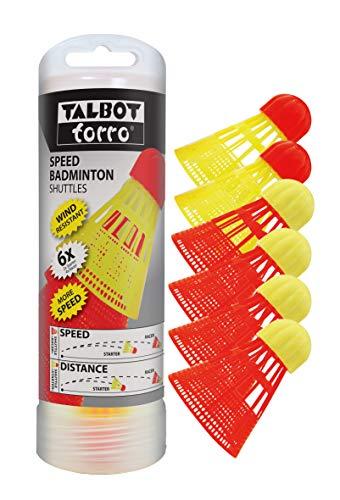 """Talbot-Torro Speed-Badminton Shuttles, 6 Stück (4 schnelle \""""Racer\"""" und 2 langsame Starter), 490180"""