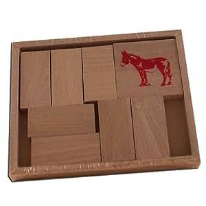 Artisan du Jura - Casse-tête en bois - L'âne rouge