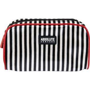 Absolue New York acb09 Trousse – Black et White Stripes Satin, pack de 1 (1 x 1 pièce)